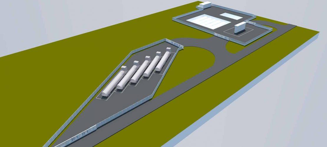 Nuevo Parking de Camiones Cisternas Airbus